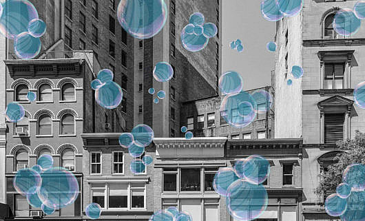 buildings with bubbles